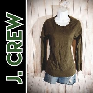 J. Crew Long Sleeve Crew Neck Top Sweater Shirt